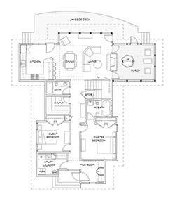 Portfolio levin cabin for Ron lee homes floor plans